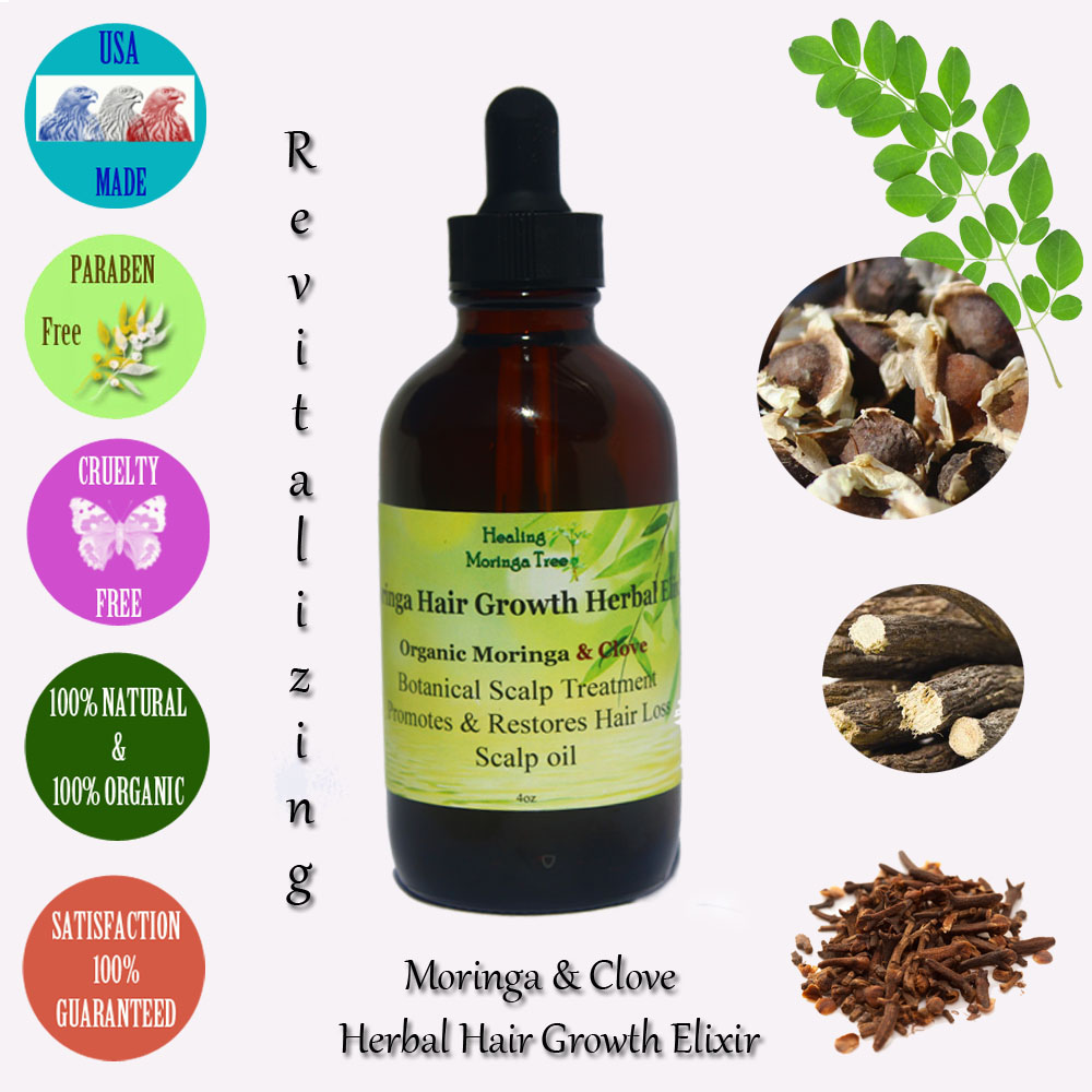 Moringa Hair Growth Elixir Herbal Scalp Oil Treatment